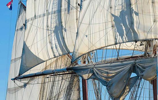Segelschiff Morgenster - Mitsegeln auf eier Brigg