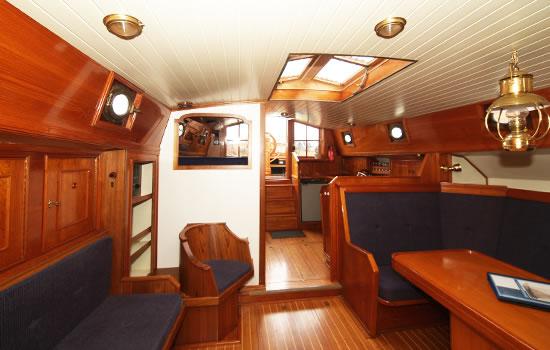 Plattbodenschiff Juffvrouw Ooievaer - unter Deck