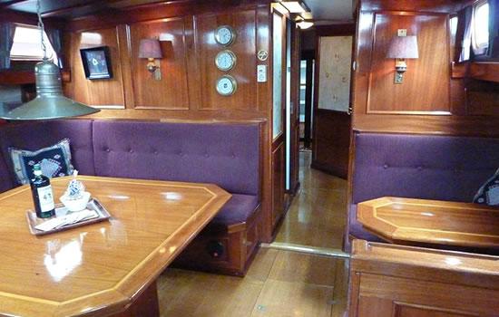 Plattbodenschiff Saeftinghe - unter Deck
