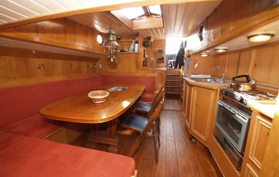 Plattbodenschiff Schokland - unter Deck