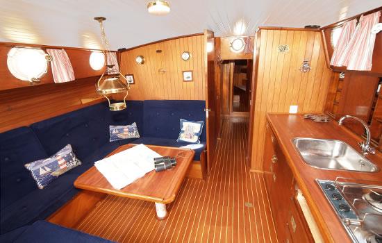 Plattbodenschiff Zephyrus - unter Deck