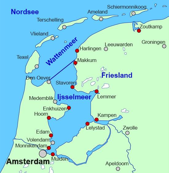 Niederlande Ijsselmeer Karte.Mietpreise Charterpreise Aller Plattbodenschiffe